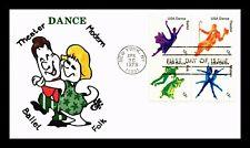 US COVER AMERICAN DANCE FDC SETENANT ELLIS ANIMATED CACHET