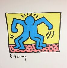 ORIGINAL KEITH HARING HAND-DRAWN AND SIGNED * 1 POP SHOP II * ON CARDSTOCK