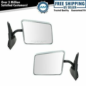 Stainless Steel Chrome Manual Side View Mirrors Pair Set for Blazer S10 Jimmy
