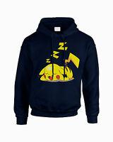 Sleepachu Pokemon Inspired Printed Unisex Hoodie Pokeball Go Hooded Pikachu
