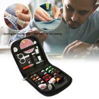 Portable Travel Small Home Sewing Kit Case Needle Thread Scissor Tape Mini J6X8