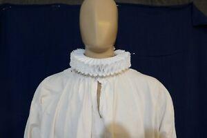 Elizabethan Neck Ruff, In stock, Ribbon, SCA Renaissance Faire, 16th 17th C