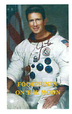 """JIM IRWIN SIGNED """"FOOTPRINTS ON THE MOON"""" AUTOGRAPHED NASA"""