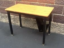 Quality Made Toledo Furniture Co Industrial Student Desk-Black Metal - Very Good