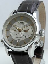 Oris Mens Artelier Worldtimer Automatic Stainless Steel Watch 690.7581.4051
