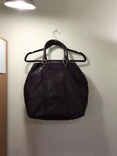 GUCCI Monogram Burgundy Leather Big Tote Bag