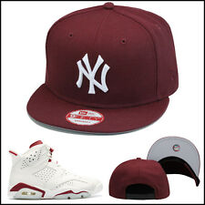 New Era New York Yankees Snapback Hat All MAROON/WHITE For jordan retro 6 VI