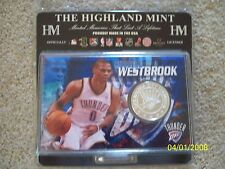 BRAND NEW! COLLECTOR'S NBA OKC THUNDER, RUSSELL WESTBROOK SILVER MEDALLION!