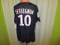 Paris St.Germain Nike Heim Trikot 2009/10 + Nr.10 Sessegnon + Signiert Gr.XL Neu
