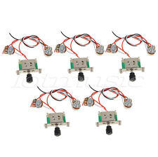 5pcs 3 way Switch 250k Pots Knobs Wiring Harness Prewired For Tele Guitar