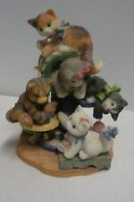 Enesco Calico Kittens - Bet Your Kit N' Kaboodle We're Five - Limited Edition