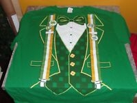 Funny St Patrick's day t-shirt Irish Suit Lucky green patty's day shirt