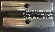 """short 10"""" Chevy 235 valve cover decal for embossed valve cover engine only"""