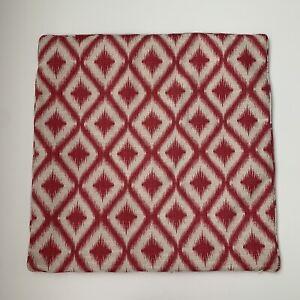 Crate & barrel ibiza pillow cover raspberry 22x22