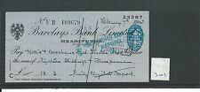 WBC. - ASSEGNO-ch701-Usato -1945 - Barclays, Città, Oxford