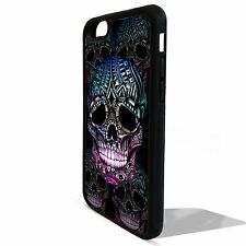 Gothic sugar skull day of the dead cover case for Iphone 5 5C 5s SE 6 6S 7 plus