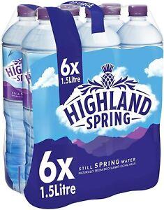 Best Highland Spring Still Spring Water, 6 x 1.5L