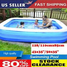 Family Swimming Pool Garden Outdoor Summer Inflatable Kids Adults Paddling Pools