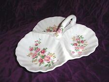 Antique Reflections by J. Godinger & Co Relish Dish w/Flower Bouquets