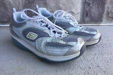 Skechers Women's Shape Ups XF Accelerators Lace-Up Sneaker,Silver M US Size 9.5