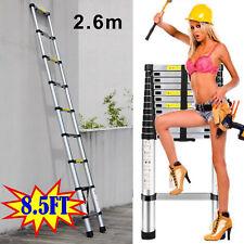 Portable Telescopic Ladder 2.6m Stonger Caravan RV Parts Accessories Camping UK