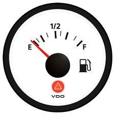 VDO Viewline Ivory Fuel Gauge 12/24V - Use with 3-180 Ohm Sender
