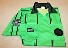 Official Sports International Soccer Referee Green/Black Short Sleeve Jersey, Lg