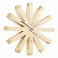 Umbra Ribbonwood Wall Clock 51cm Diameter X 9cm Depth