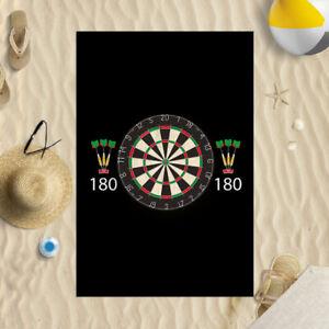 "58x39"" Darts 180 Microfibre Beach Towel Summer Holiday Gift"