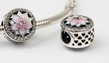 European Charm New Authentic 925 sterling Silver Magnolia Bloom Bead Charms