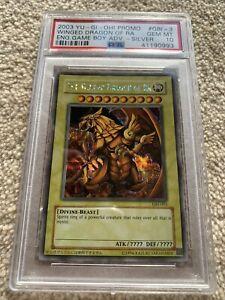 Yugioh The Winged Dragon Of Ra Psa 10 GBI-003 Silver Secret Egyptian God Card