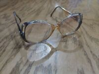 Euramko Aruba 1950-1960 Reading bifocals Large Eye Clear Yellowish Frame 140