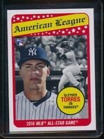 2018 Topps Throwback Thursday Gleyber Torres RC Card #133 NYY Rookie SP