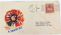 ".WW2 USA PATRIOTIC POSTAL COVER ""A SMASH HIT COMING SOON!"""
