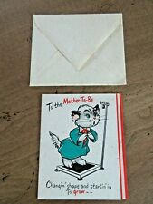 Vtg Hallmark 1970s Unused new old stock Card To the Mother To Be Envelope Cat