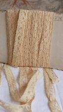 Vintage jaune bordure en dentelle broderie style French Lace Vintage Mariage Poupées 3 Yd (environ 2.74 m)