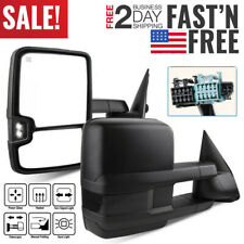 Fit For 2003-2006 Sierra Silverado Power Heated Tow Mirrors+Smoke LED Signal