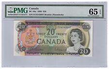 Canada $20 Banknote 1969 BC-50a PMG GEM UNC 65 EPQ