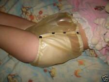 Latex Rubber Boxer Shorts Durchsichtig Knoft Unterhose Elastic Short Pants S-XXL
