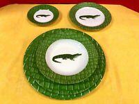 """Deshoulieres Porcelain, """"Alligator Alley"""", Limoges, France, Full Service 12 (B)"""