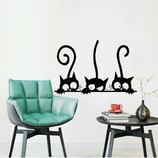 Lovely Three Cat Pattern Wall Sticker Home Decor Bedroom Decorations Living Room