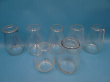 Mixed Wholesale Lot Railroad Barn Lantern Globes Clear Glass Shades Parts Old