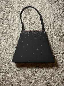 Vintage Beaded Black Evening Bag