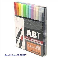 TOMBOW ABT Dual Brush Pens Blendable 2 tips Basic Colors  24-Piece-Set AB-T24CBA