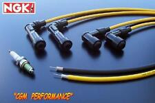 Kawasaki Vulcan VN 750 Spark Plug Wires Cables, Yellow, VN750