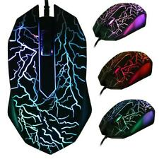 3200 DPI 3 Buttons USB Wired Luminous Gamer Computer Gaming Mouse UK