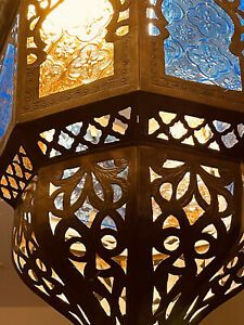 Brass Morrocan  Antique Lampshade Excellent Condition
