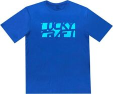LUCKY CRAFT Sports (Dri-Fit) T-shirts - Blue & Light Blue - Small