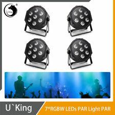 4x U`King 7 LED Bühnenlicht RGBW 4-In-1 Par CAN Licht DMX512 Party Disco Club DJ