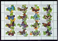 Guyana /1990 butterflies,vlinders, sheet of 16-stamp.#3//mnh.good condition.